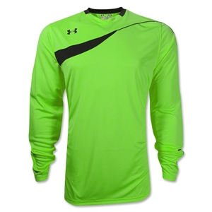 Under Armour Horizontal Long Sleeve Goalkeeper Jersey (Green)
