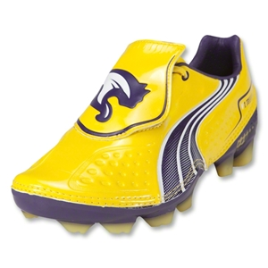 PUMA V1.11 I FG KIDS Cleats (Vibrant Yellow-Parachute Purple-White)