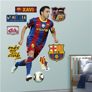 Barcelona Xavi FatHead Wall Graphic