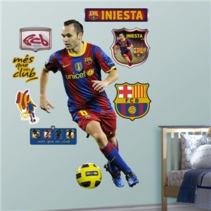 Barcelona Andres Iniesta FatHead Wall Graphic