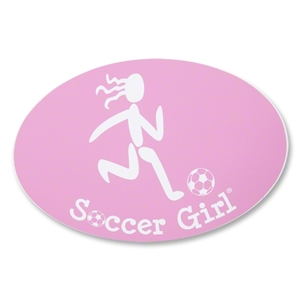 Soccer Girl Pink Decal