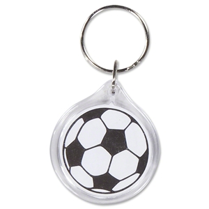 Soccer Ball Round Key Ring