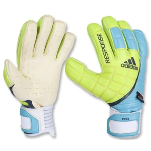 adidas Response Pro Motion Arrester Goalkeeper Gloves (Slime/Super Cyan/Power Green)