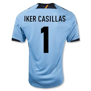 Spain 12/13 IKER CASILLAS Away Soccer Jersey