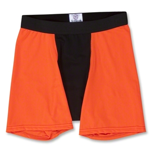 Two-Tone Compression Shorts (Neon Orang)