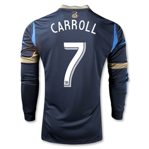 Philadelphia Union 2013 CARROLL Authentic LS Primary Soccer Jersey