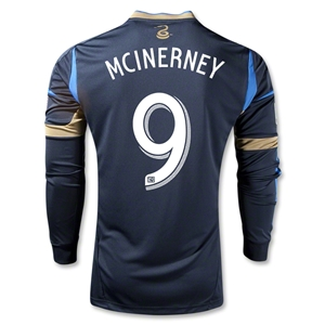 Philadelphia Union 2013 MCINERNEY Authentic LS Primary Soccer Jersey