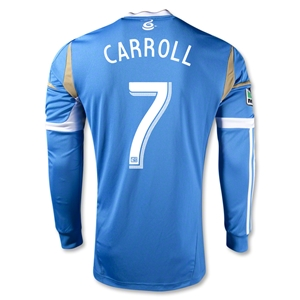 Philadelphia Union 2014 CARROLL Authentic LS Secondary Soccer Jersey