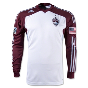 Colorado Rapids Long Sleeve Authentic Away Jersey 2012