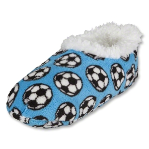 Snoozies Soccer Slippers (Blue)