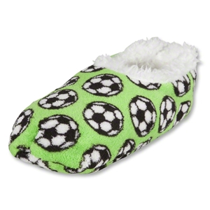 Snoozies Soccer Slippers (Green)