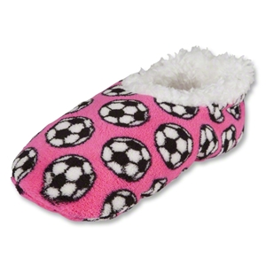 Snoozies Soccer Slippers (Pink)