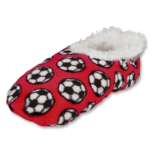 Snoozies Soccer Slippers (Red)
