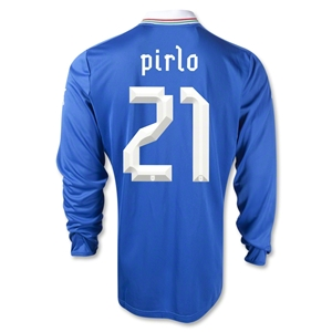 Italy 2012 PIRLO Home Long Sleeve Soccer Jersey