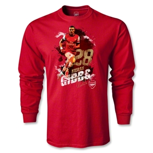 Arsenal Gibbs Player LS T-Shirt (Red)