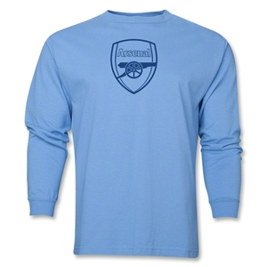 Arsenal Crest LS T-Shirt (Sky Blue)