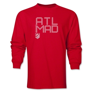 Atletico Madrid ATL MAD LS T-Shirt (Red)