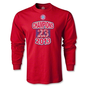 Bayern Munich 2013 LS Champions T-Shirt (Red)