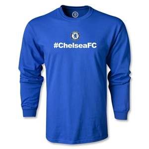Chelsea Hashtag LS T-Shirt (Royal)
