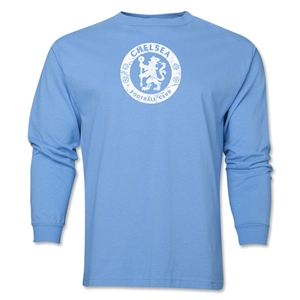 Chelsea Distressed Emblem LS T-Shirt (Sky Blue)