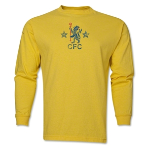 Chelsea Distressed Retro LS T-Shirt (Yellow)