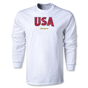 CONCACAF Gold Cup 2013 LS USA T-Shirt (White)