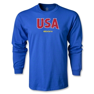 CONCACAF Gold Cup 2013 LS USA T-Shirt (Royal)