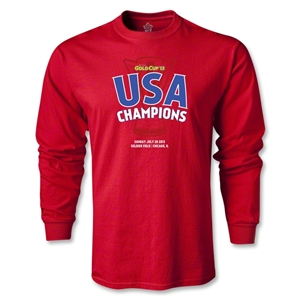 USA CONCACAF Gold Cup 2013 Champions LS T-Shirt (Red)