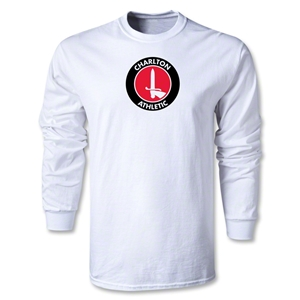 Charlton Athletic Crest LS T-Shirt (White)