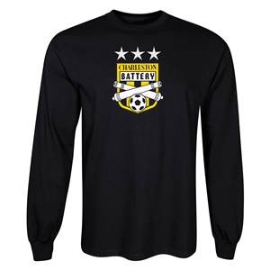 Charleston Batter Three Star LS T-Shirt (Black)