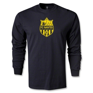 FC Nantes Distressed Crest LS T-Shirt (Black)