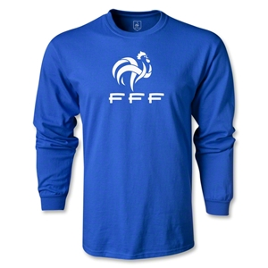 France FFF LS T-Shirt (Royal)