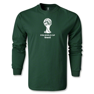 2014 FIFA World Cup Brazil(TM) LS Emblem T-Shirt (Dark Green)