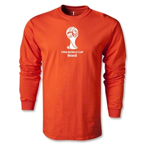 2014 FIFA World Cup Brazil(TM) LS Emblem T-Shirt (Orange)