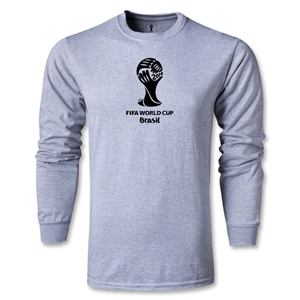 2014 FIFA World Cup Brazil(TM) LS Emblem T-Shirt (Gray)
