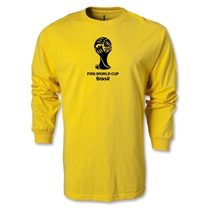 2014 FIFA World Cup Brazil(TM) LS Emblem T-Shirt (Yellow)