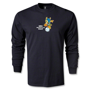2014 FIFA World Cup Brazil(TM) Mascot LS T-Shirt (Black)