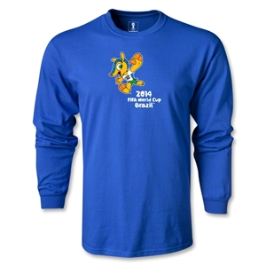 2014 FIFA World Cup Brazil(TM) LS Mascot T-Shirt (Royal)