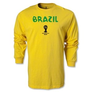 Brazil 2014 FIFA World Cup Brazil(TM) Core LS T-Shirt (Yellow)