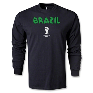 Brazil 2014 FIFA World Cup Brazil(TM) Core LS T-Shirt (Black)