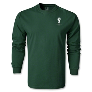 2014 FIFA World Cup Brazil(TM) Men's LS Emblem Fashion T-Shirt (Dark Green)