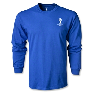 2014 FIFA World Cup Brazil(TM) Men's LS Emblem T-Shirt (Royal)