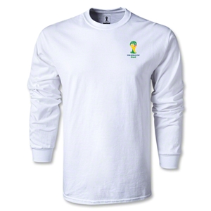2014 FIFA World Cup Brazil(TM) Men's LS Emblem Fashion T-Shirt (White)