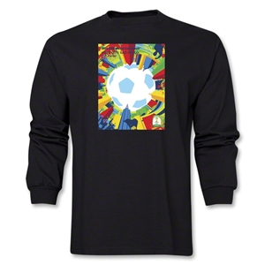 Sao Paulo 2014 FIFA World Cup Brazil(TM) Host City Poster Men's LS T-Shirt (Black)