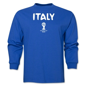 Italy 2014 FIFA World Cup Brazil(TM) Men's LS Core T-Shirt (Royal)