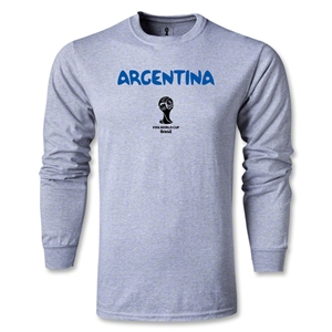 Argentina 2014 FIFA World Cup Brazil(TM) Men's LS Core T-Shirt (Grey)
