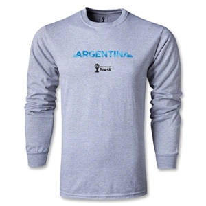 Argentina 2014 FIFA World Cup Brazil(TM) Men's LS Palm T-Shirt (Grey)