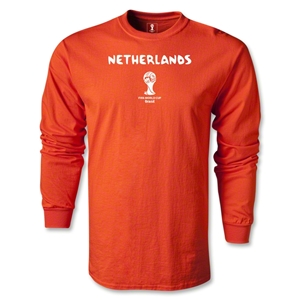 Netherlands 2014 FIFA World Cup Brazil(TM) Men's LS Core T-Shirt (Orange)