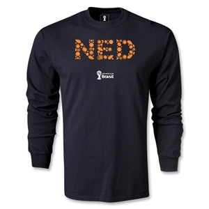 Netherlands 2014 FIFA World Cup Brazil(TM) Men's LS Elements T-Shirt (Black)