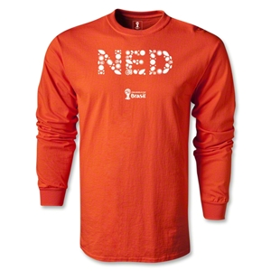 Netherlands 2014 FIFA World Cup Brazil(TM) Men's LS Elements T-Shirt (Orange)